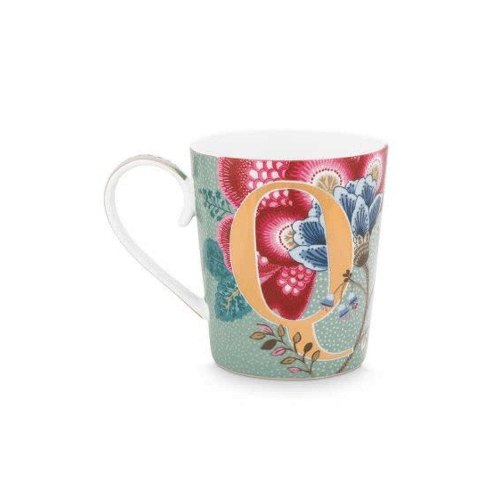 PIP Studio Alphabet Mug Floral Fantasy Light Blue Q 350ml