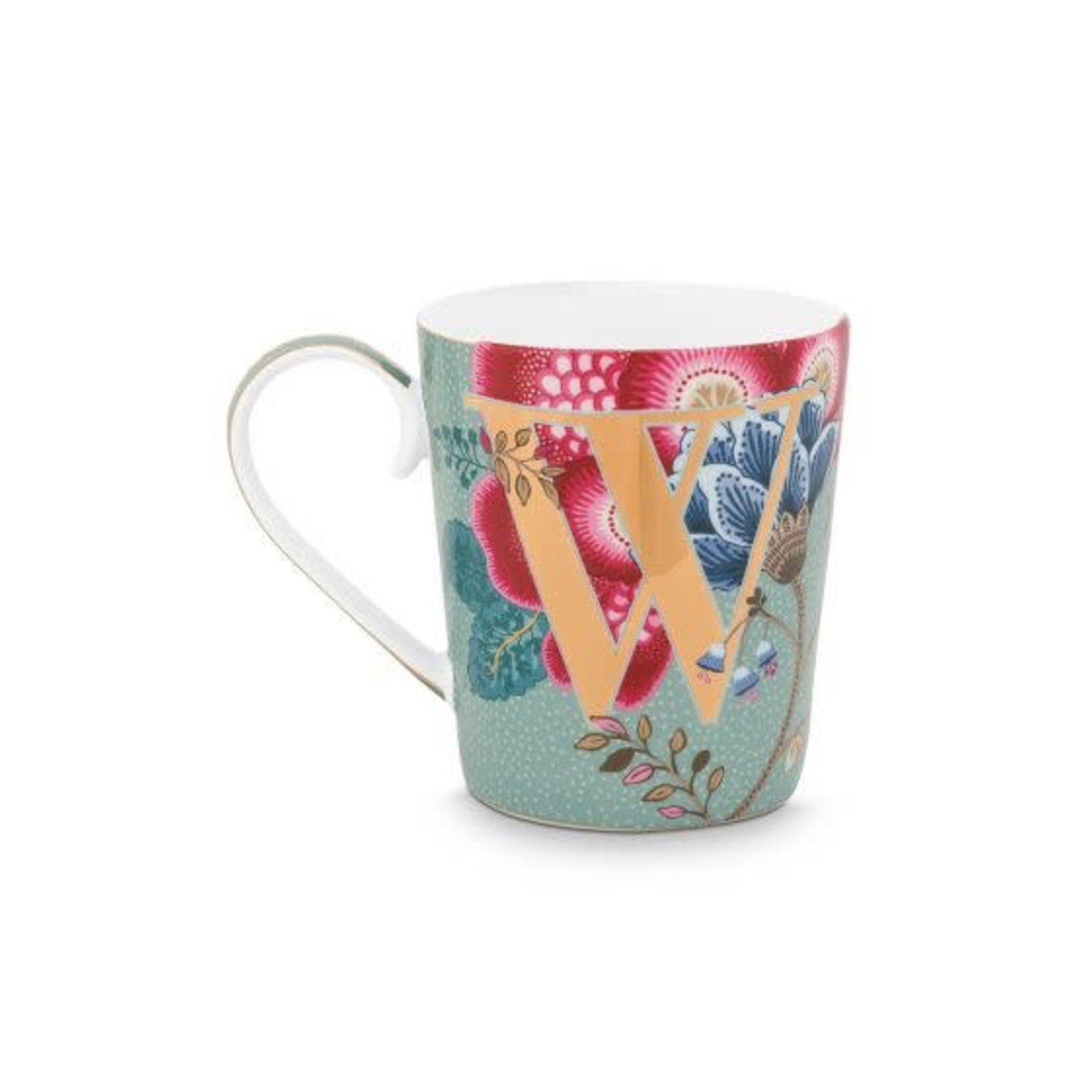 PIP Studio Alphabet Mug Floral Fantasy Light Blue W 350ml