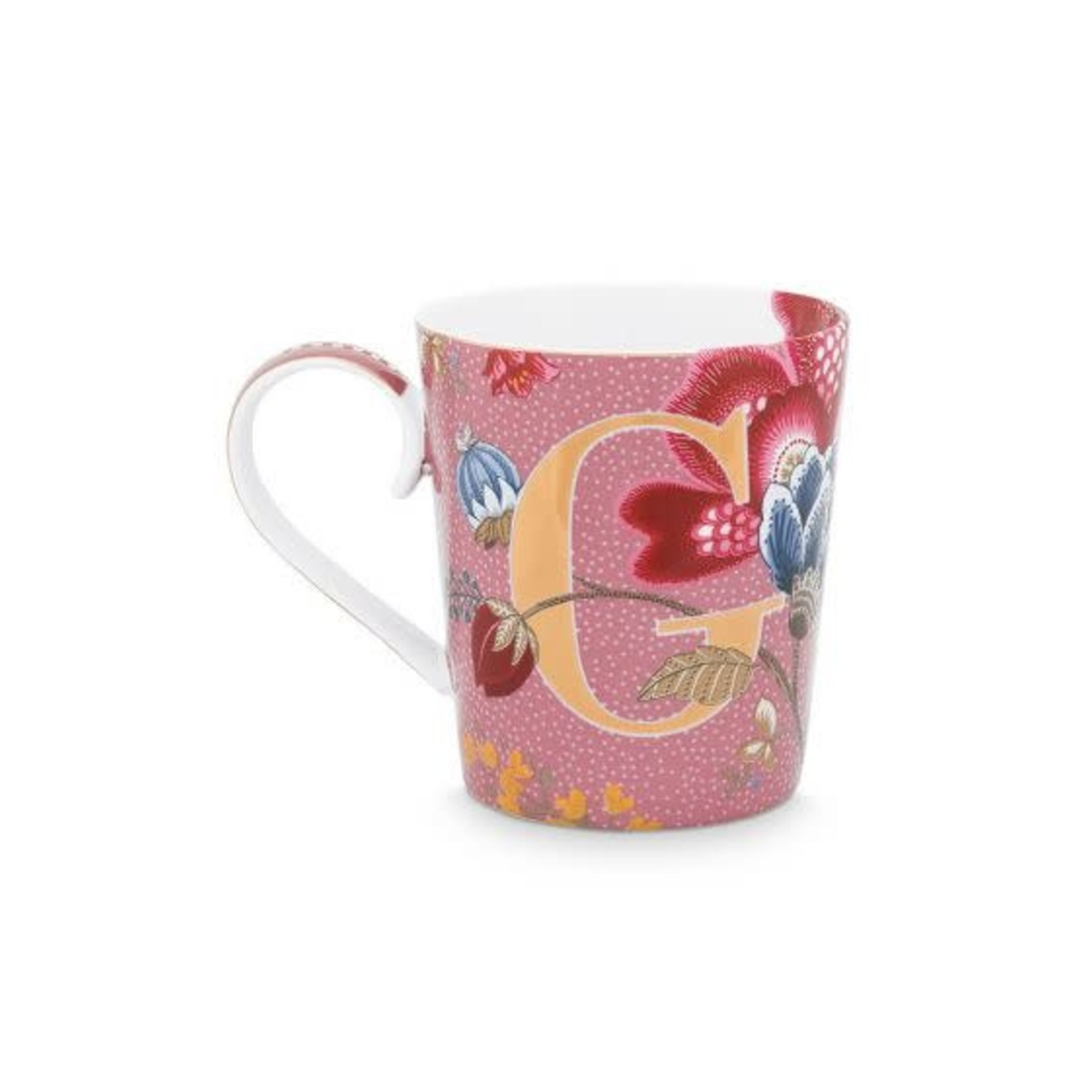 PIP Studio Alphabet Mug Floral Fantasy Pink G 350ml