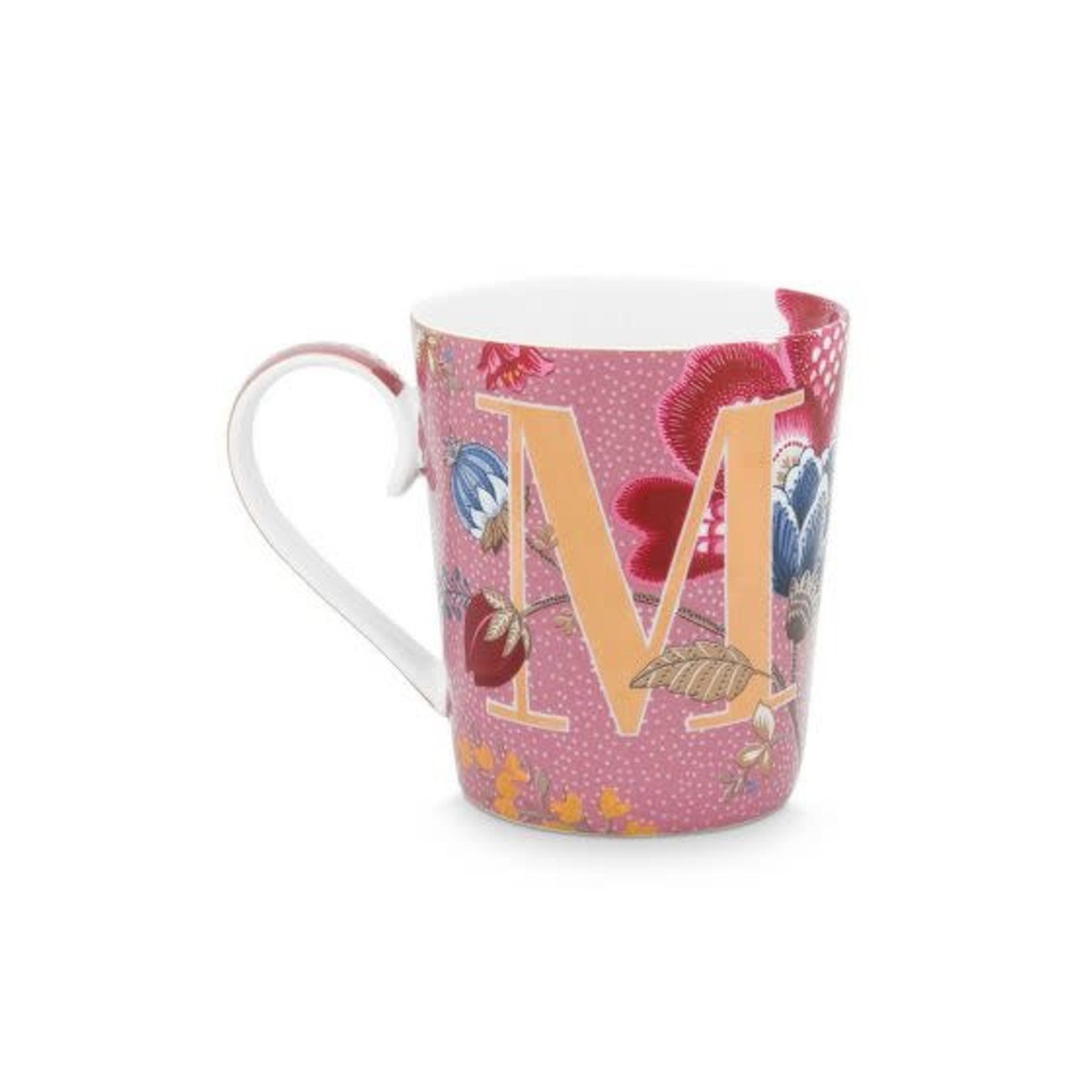 Pip Studio Alphabet Mugs Alphabet Mug Floral Fantasy Pink M 350ml