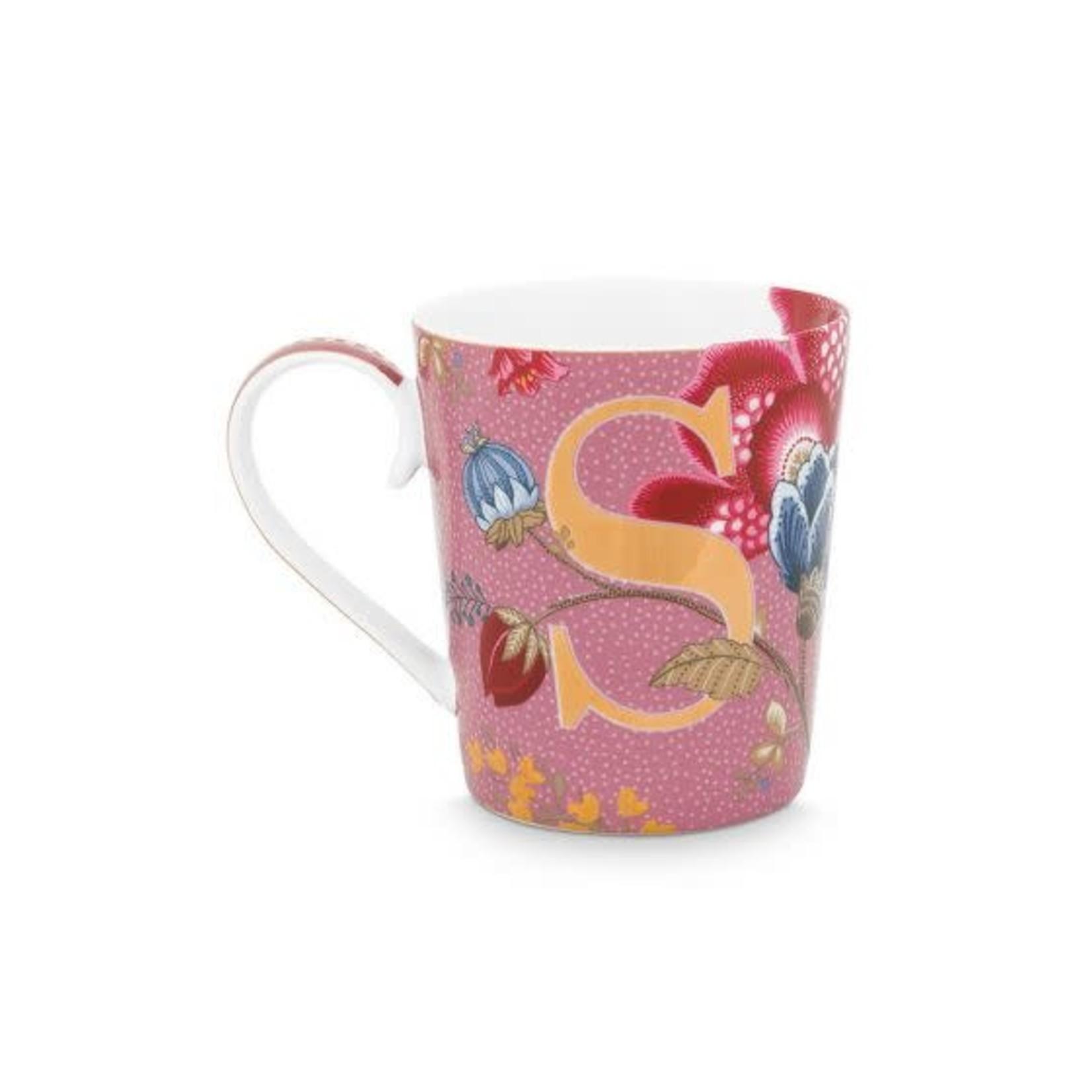 Pip Studio Alphabet Mugs Alphabet Mug Floral Fantasy Pink S 350ml