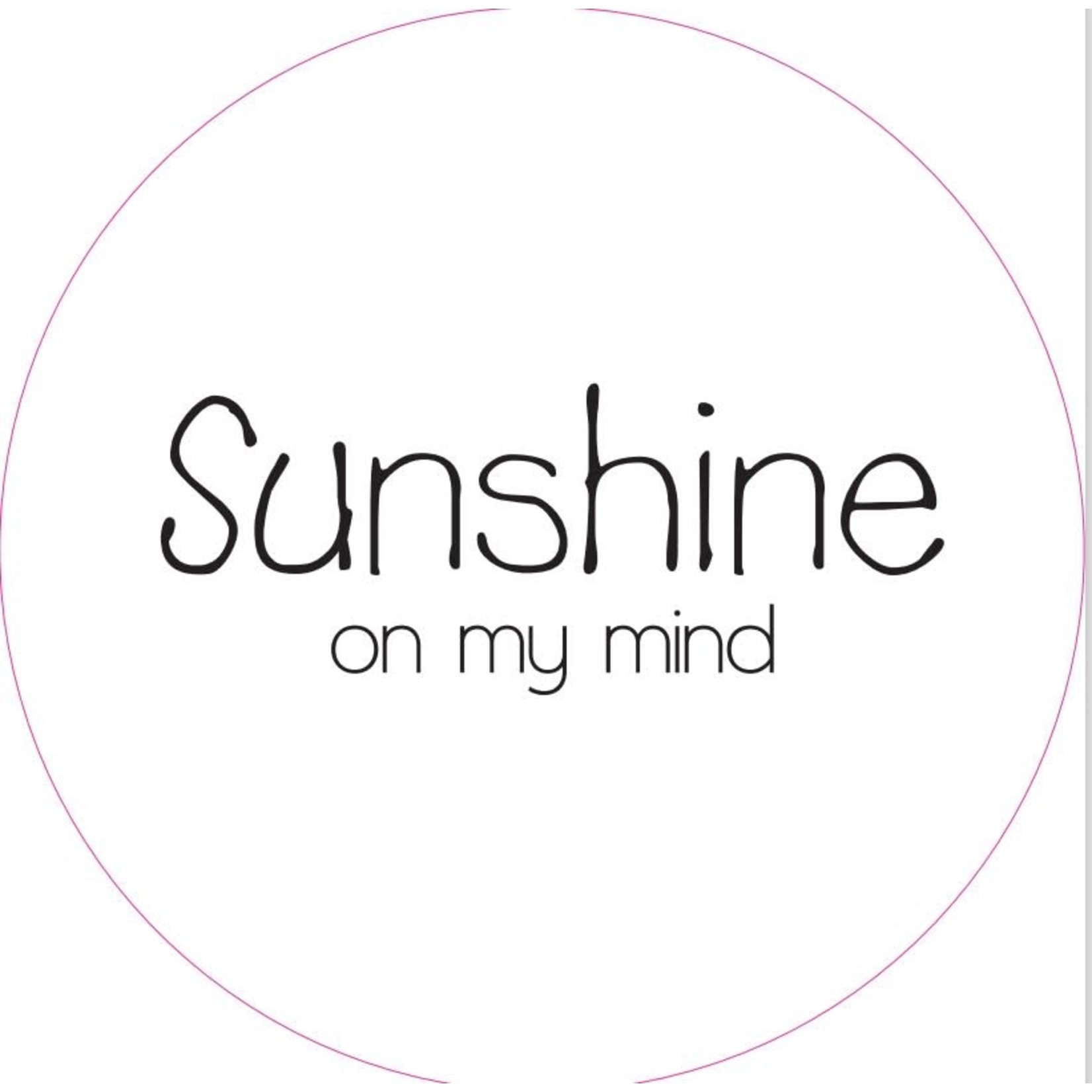 Home Sweet Home Muurcirkel Sunshine on my mind 30cm