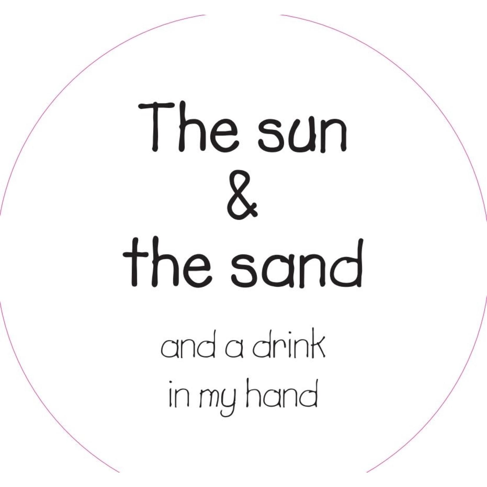 Home Sweet Home Muurcirkel The sun & the sand ... 20cm