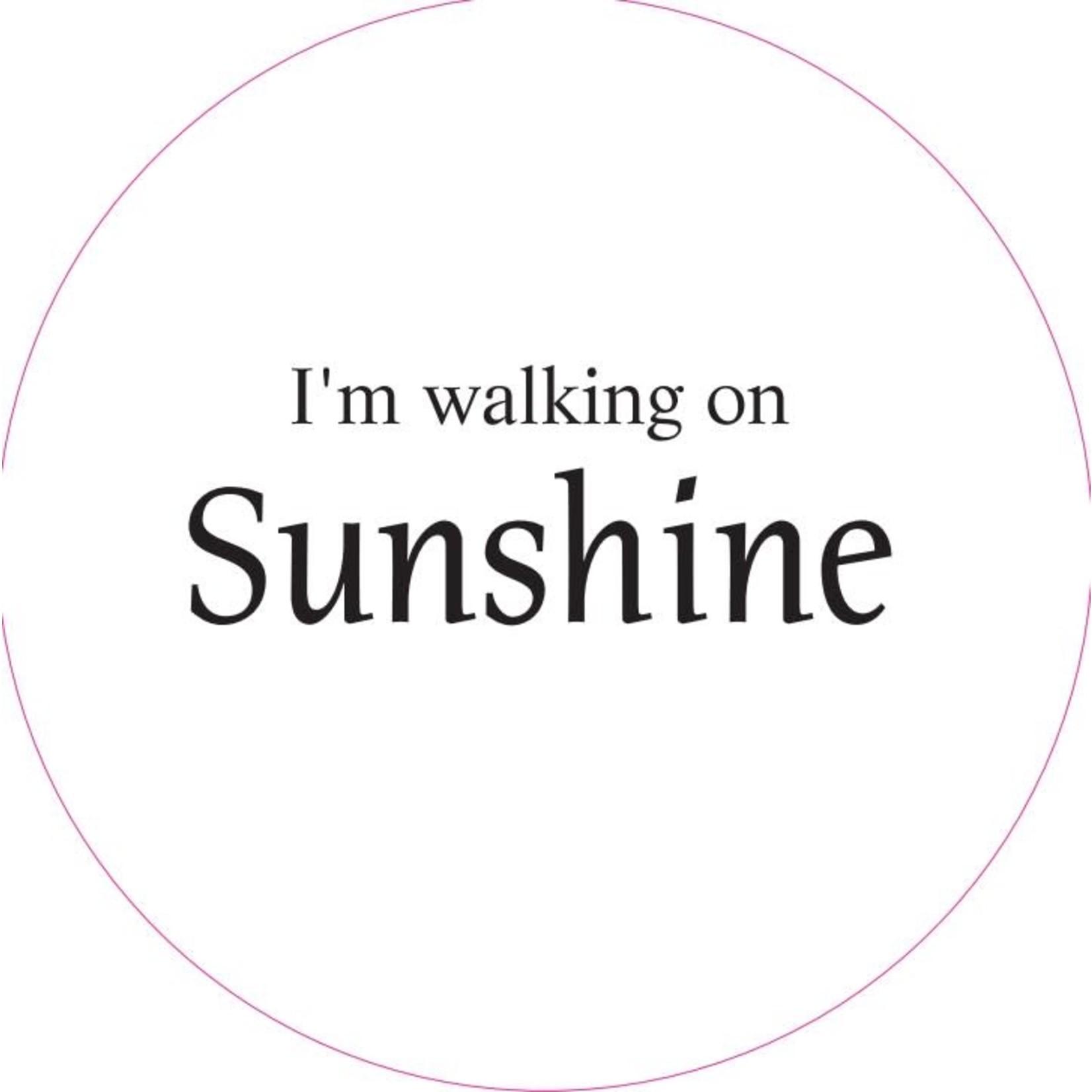 Home Sweet Home Muurcirkel I'm walking on sunshine 20cm
