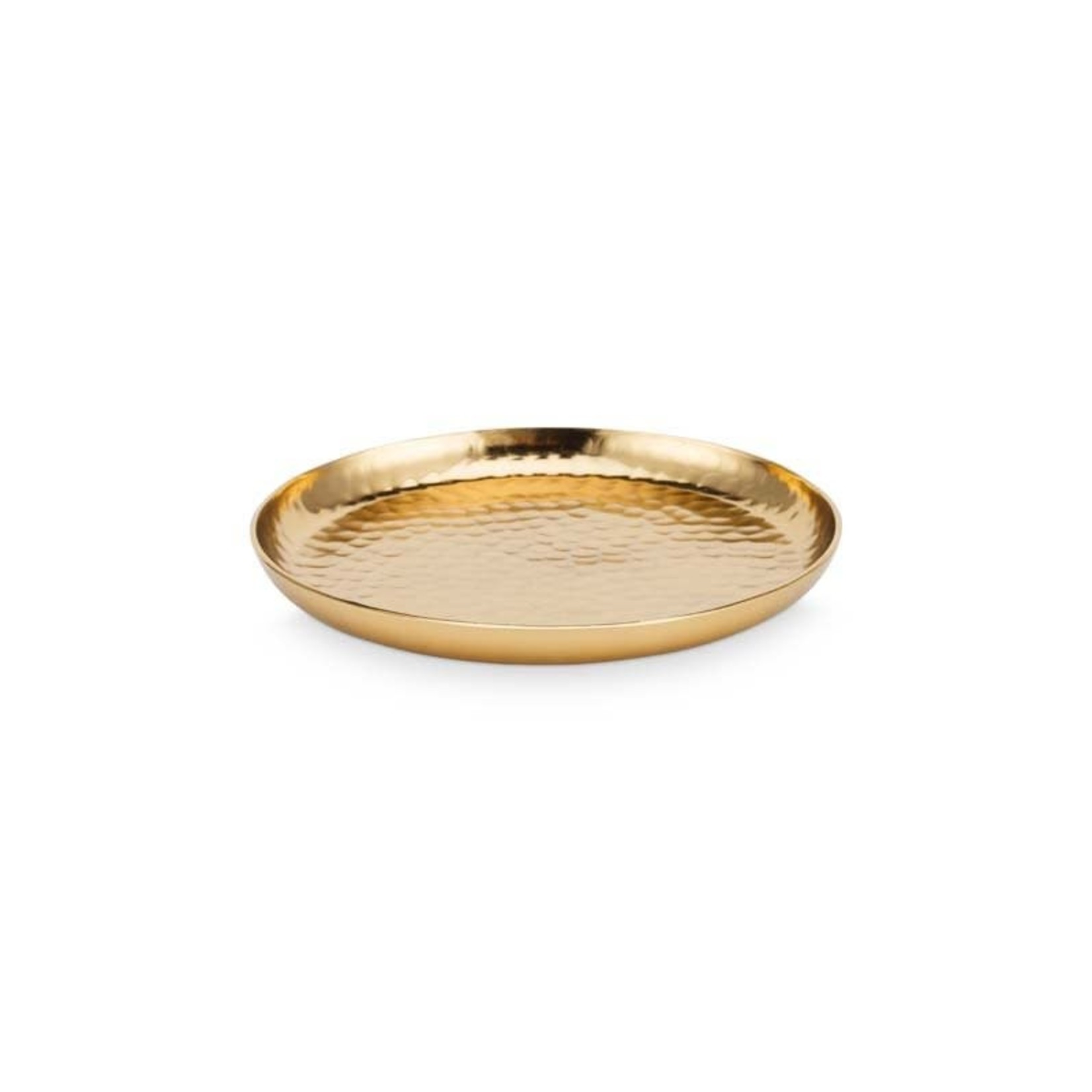 vtwonen Basic collection Plate Metal Gold 15cm