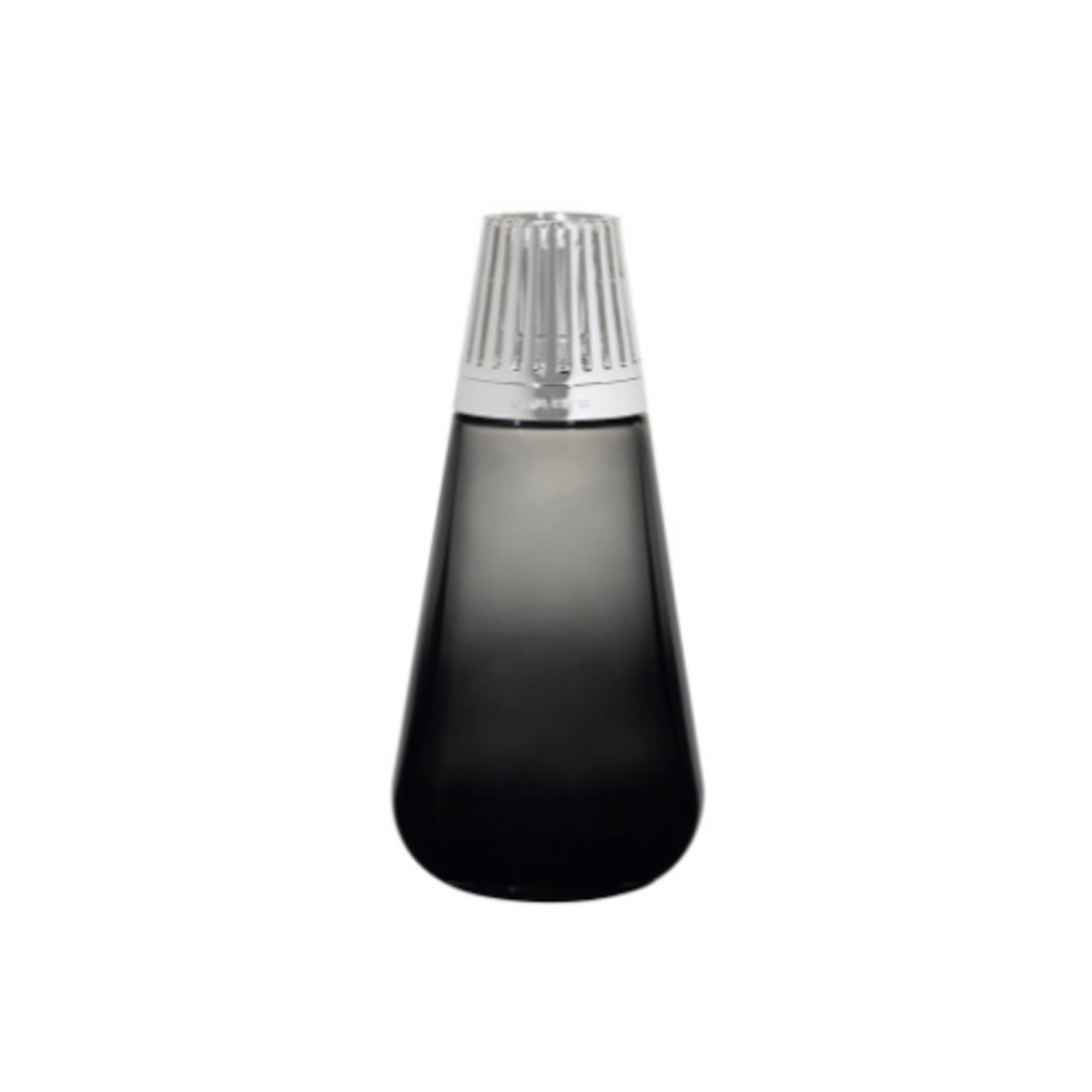 Lampe Berger Lampe Berger Luxe fles Amphora zwart  met zilveren sierdop + 250 ml flesje Sweet Fig