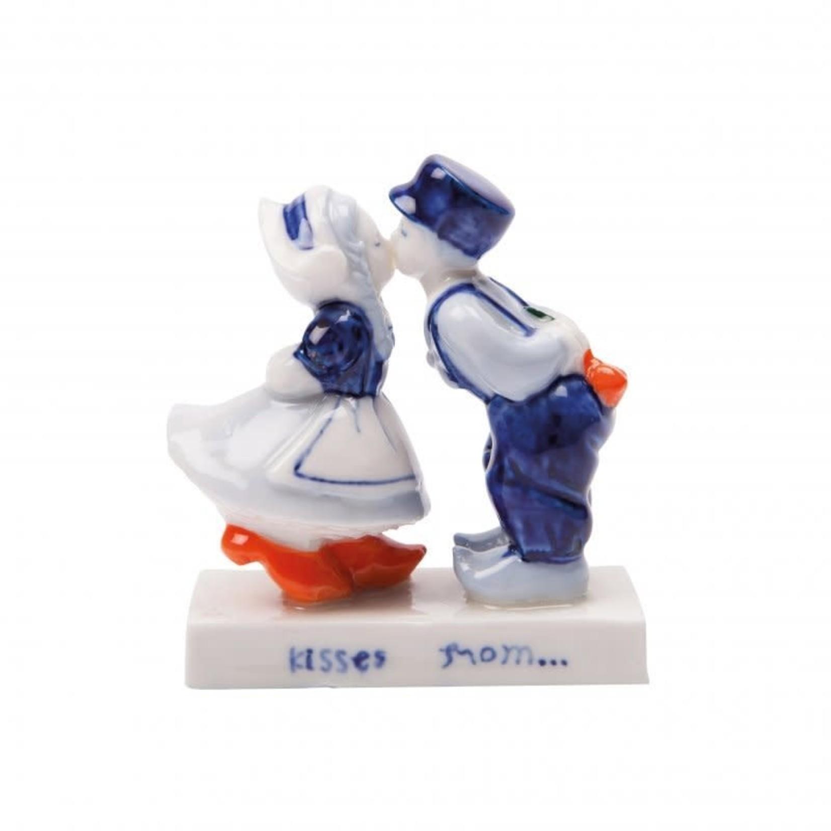 Heinen Delfts Blauw Kussend paar (5cm)
