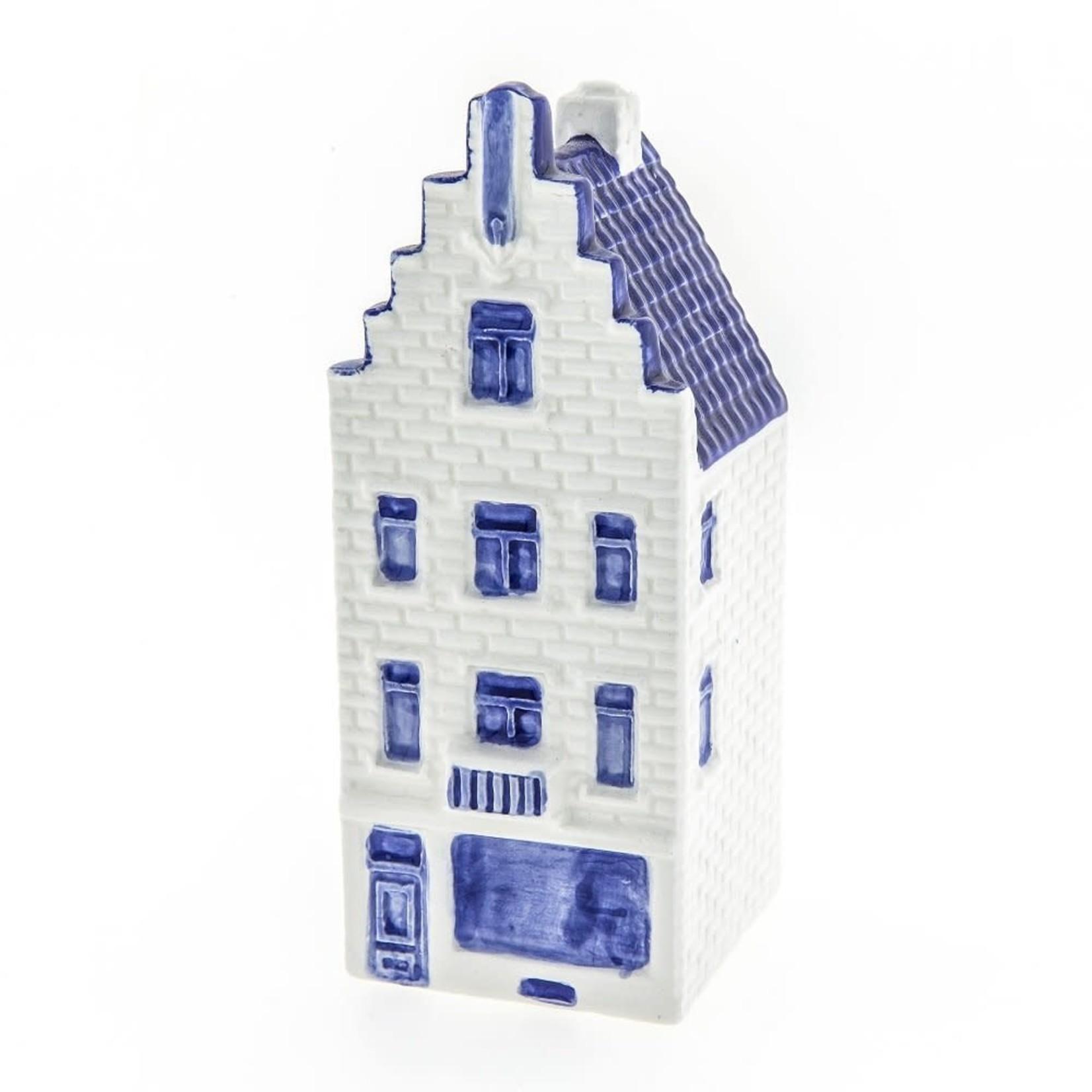 Heinen Delfts Blauw Huis trapgevel groot
