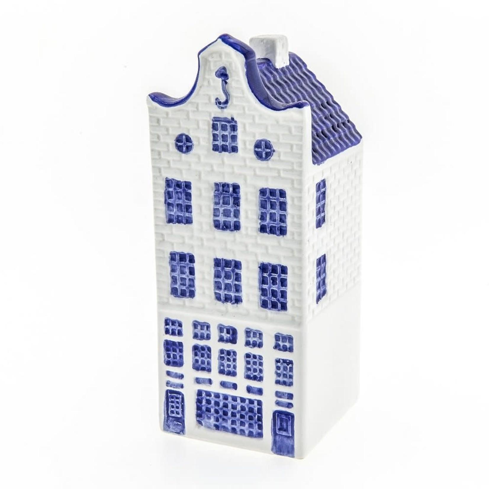 Heinen Delfts Blauw Huis klokgevel groot