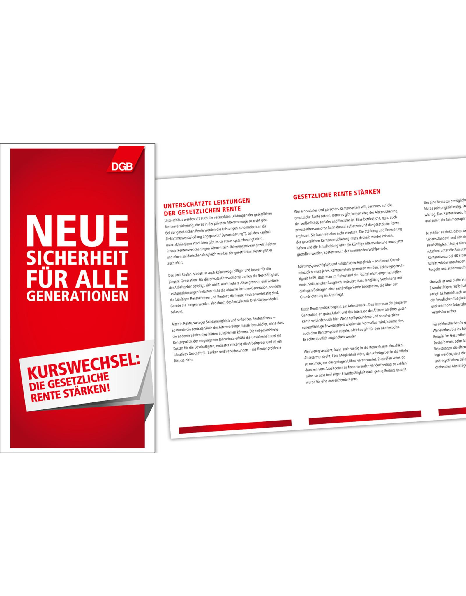 DGB Faltblatt zum Rentenbericht