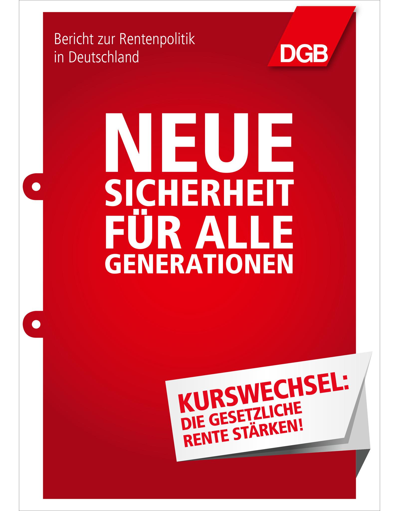 DGB Broschüre Rentenbericht DIN A4, 64 Seiten