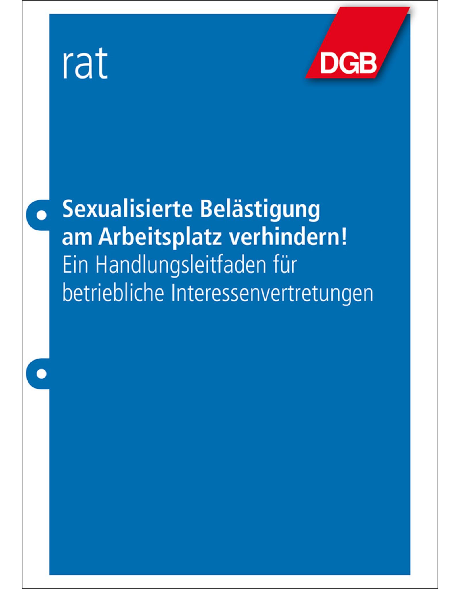 DGB-Leitfaden Sexualisierte Belästigung am Arbeitsplatz verhindern!