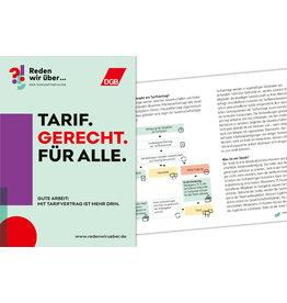 Broschüre A6 Tarifbindung