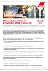 DGB-Kurzpapier  Klima, Energie, Mobilität
