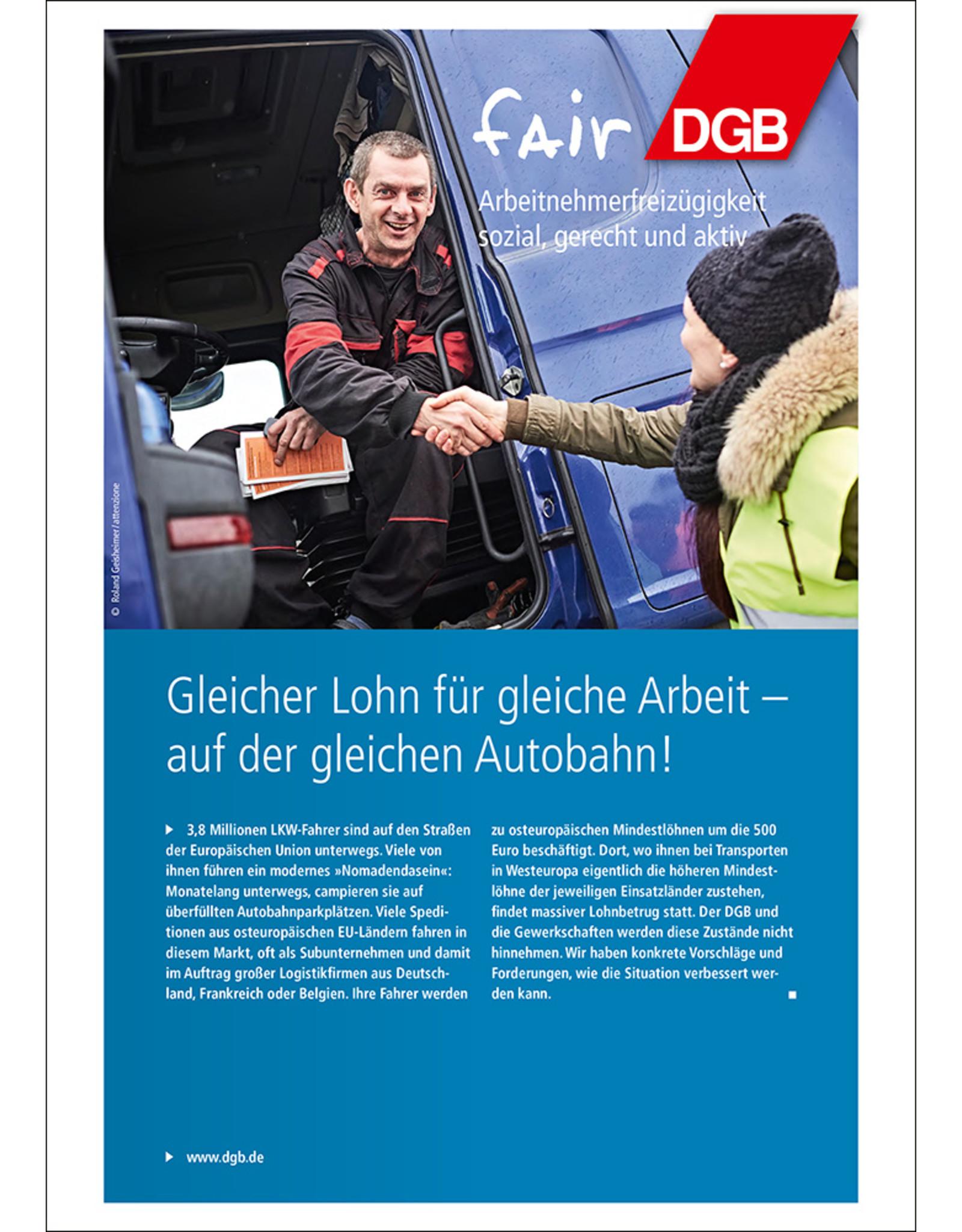 DGB-Broschüre Gleicher Lohn für gleiche Arbeit - auf der gleichen Autobahn!