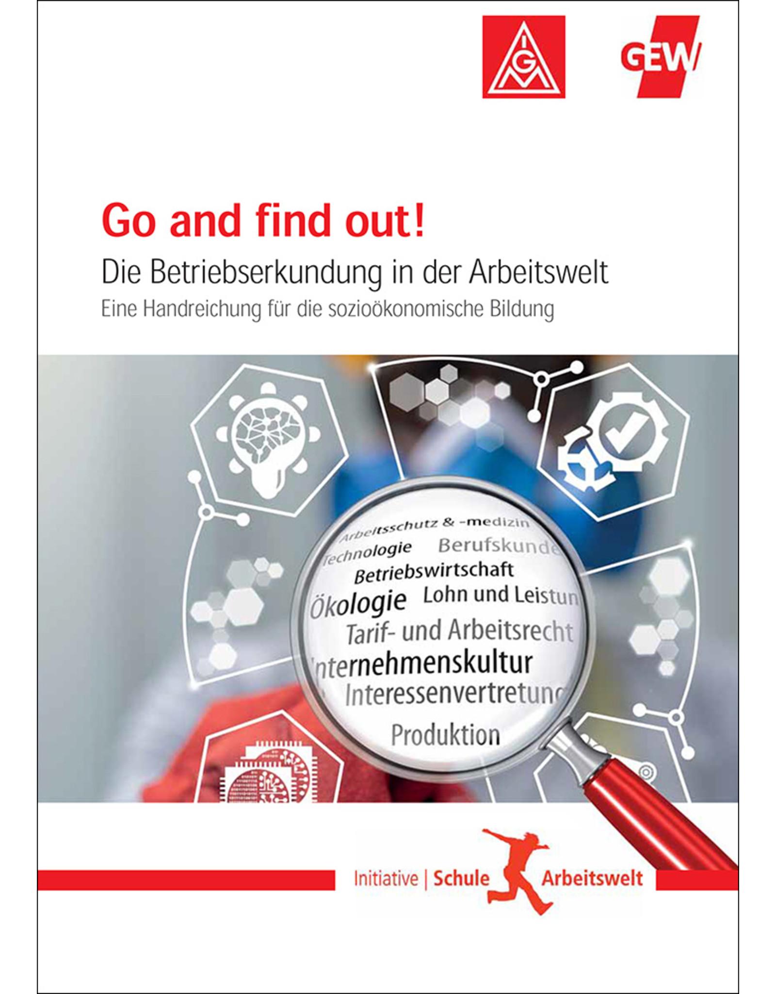 DGB Broschüre Go and find out! Die  Betriebserkundung in der Arbeitswelt