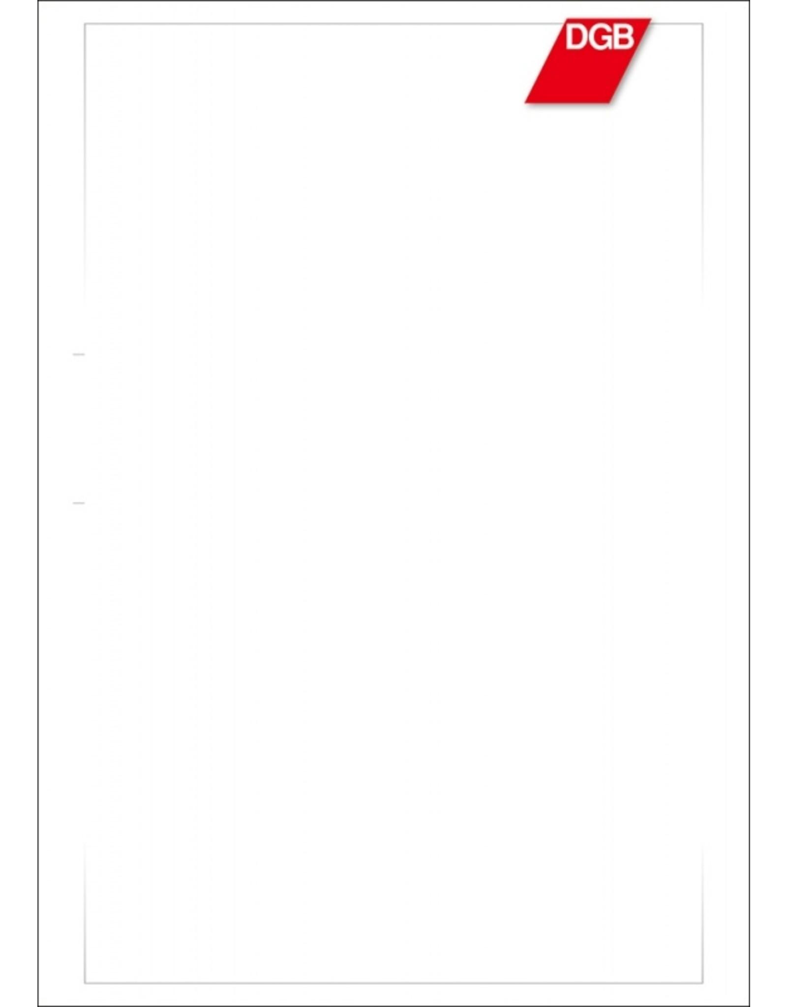 DGB Briefblattvordrucke A4, 80g/qm