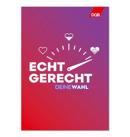 """Plakat """"Echt gerecht"""" (rot-lila) DIN A1"""
