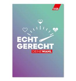 """Plakat """"Echt gerecht"""" (lila-grün) DIN A2"""