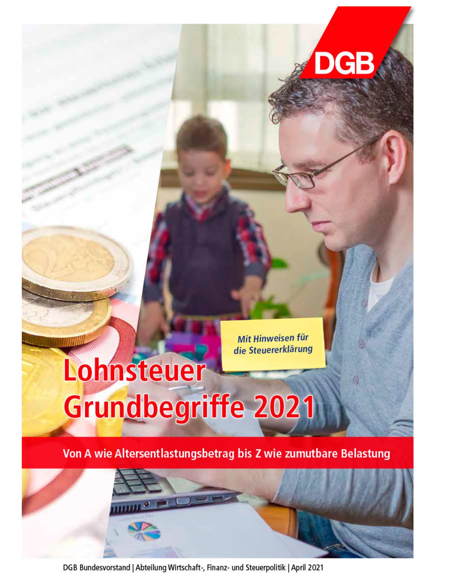 DGB-Broschüre Lohnsteuer Grundbegriffe 2021