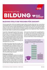 """Faktenblatt #6 Bildung zur Bundestagswahl-Kampagne """"Echt gerecht"""" 2021"""