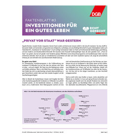 Faktenblatt #3 Investitionen für ein gutes Leben