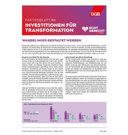 Faktenblatt #4 Investitionen für Transformation