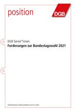 Position DGB Senior*innen: Forderungen zur Bundestagswahl 2021