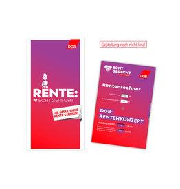 Faltblatt Rente mit Rentenrechner