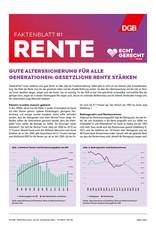 """Faktenblatt #1 Rente zur Bundestagswahl-Kampagne """"Echt gerecht"""" 2021"""