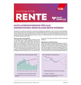 Faktenblatt #1 Rente