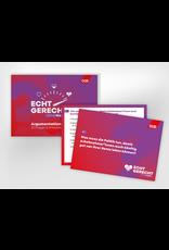"""Argumentationskarten-Set zur Bundestagswahl-Kampagne """"Echt gerecht"""" 2021"""
