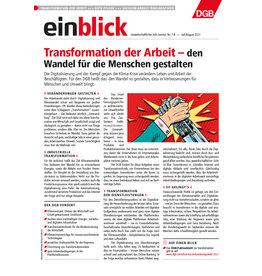 Zeitung einblick Juli/August 07-08/2021