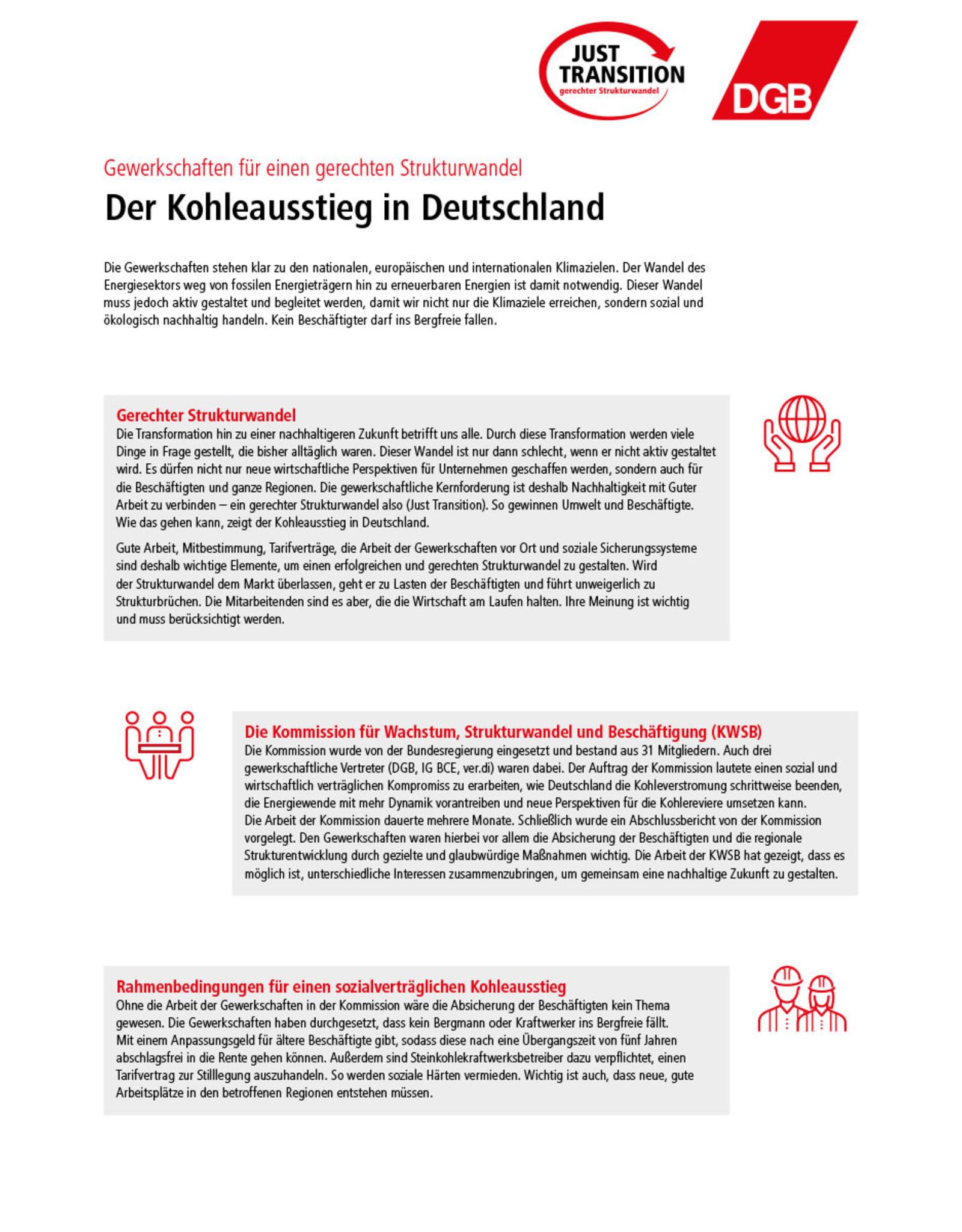 Der Kohleausstieg in Deutschland