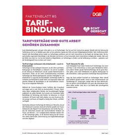 Faktenblatt #5 Tarifbindung