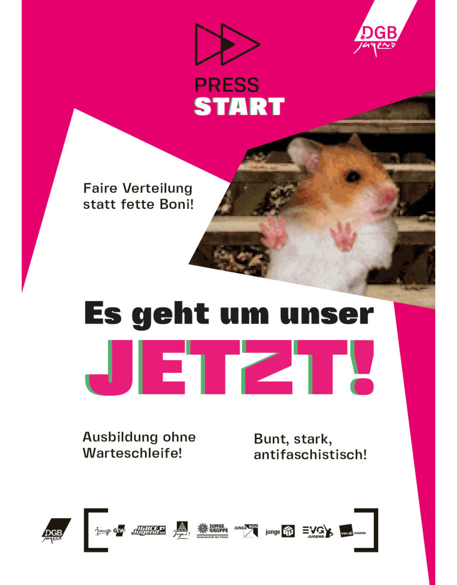 PRESS START – Forderungsmagazin der DGB-Jugend zur Bundestagswahl 2021