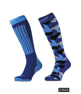 Camouflage print ski socks (2-pack)