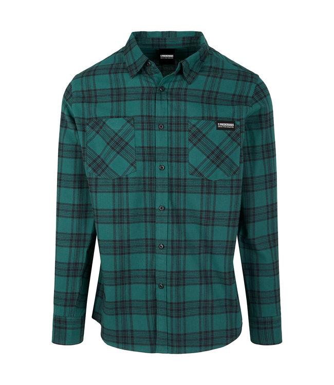 Flanel Shirt Donkergroen/Zwart