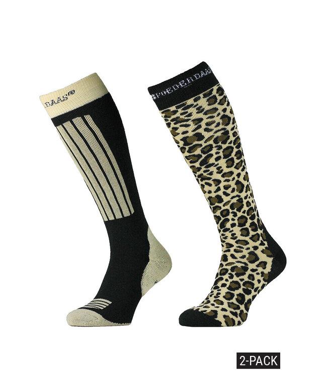 Panther print ski socks (2-pack)