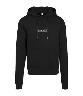 Black BOARD hoodie with white print