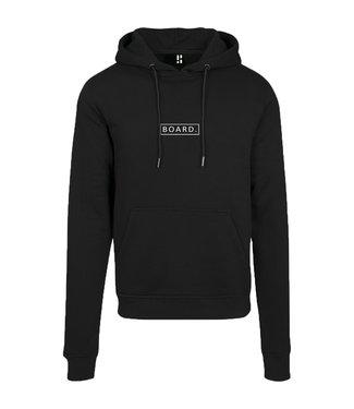 Schwarzer BOARD Hoodie mit weißem Aufdruck