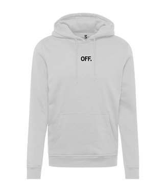 White OFF piste hoodie with black print