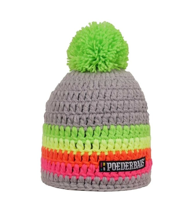 Colorful hat - Gray / green / yellow / orange