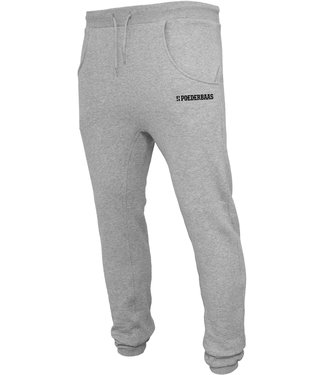 Gray training pants from Poederbaas with print
