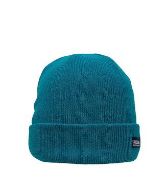 Bunte Basic Mütze - dunkelgrün / blaugrün