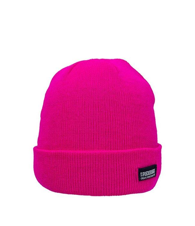 Bunte Basic Mütze - pink