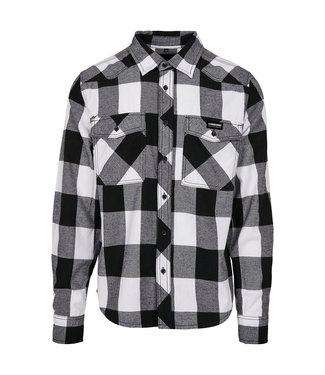 Flannel Shirt Wit/Zwart