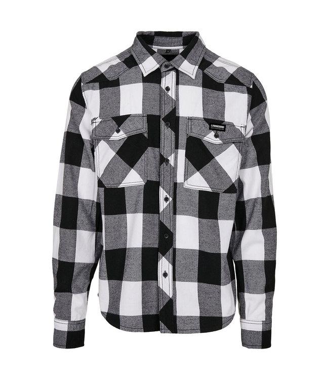 Flanellhemd Weiß / Schwarz