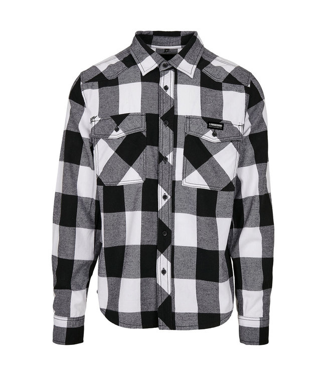 Flannel Shirt Wit/Zwart