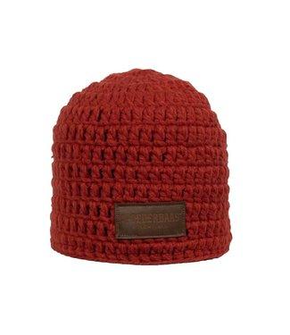 Gehäkelte Mütze rot